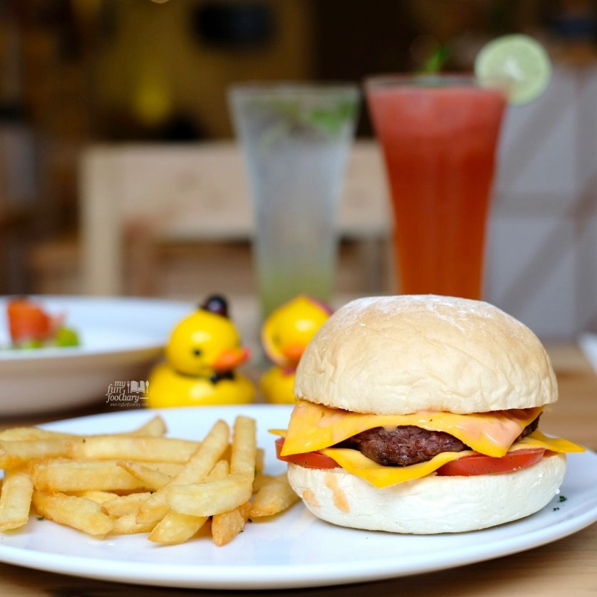 Double Cheese Burger with Fries at Meat and Eat by Myfunfoodiary