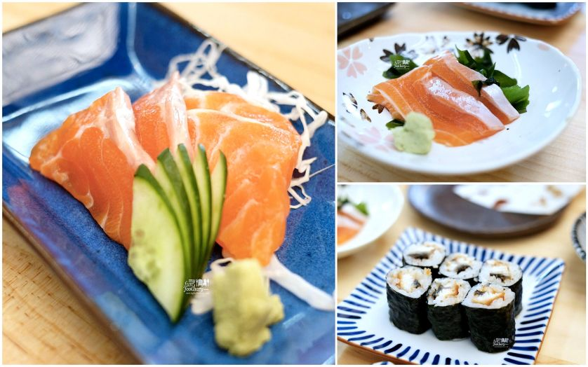 Salmon Sashimi - Salmon Belly - Unagi Maki at Nama Sushi by Myfunfoodiaryedit