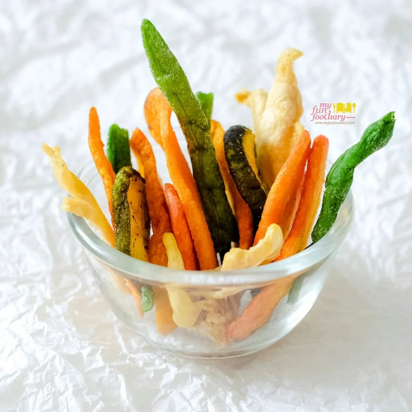 Replai Veggie Chips Close up Look by Myfunfoodiary r