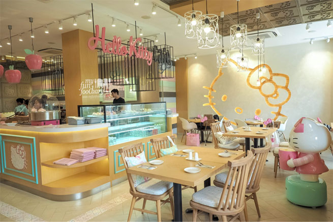 Image result for Hello Kitty Cafe, Jakarta