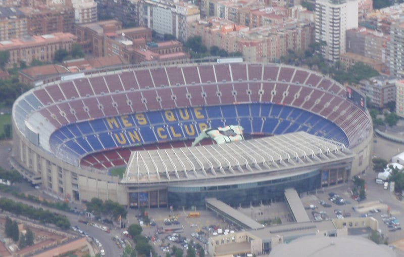 The Nou Camp from the sky