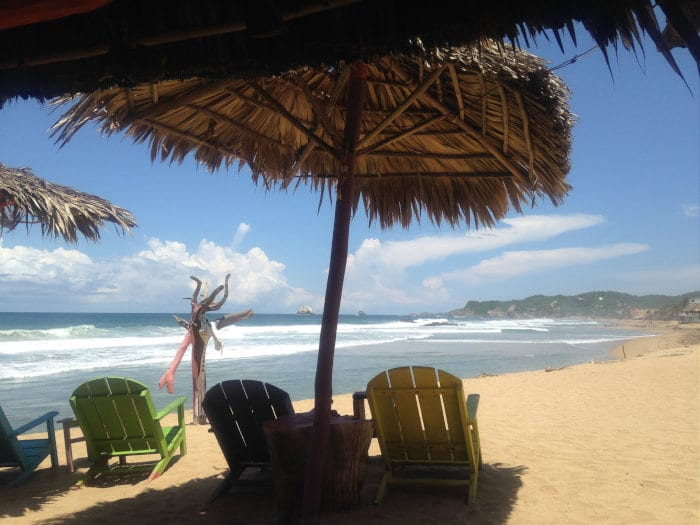 backpackers in Mexico