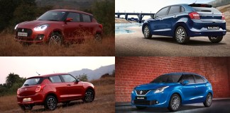 Maruti Suzuki Swift 2018 vs Baleno