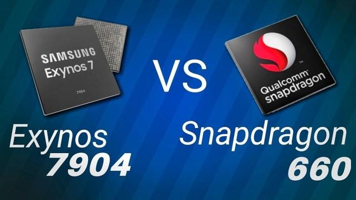 exynos 7904 vs snadragon 660 features samsung galaxy m20 vs redmi note 7