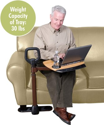 Able Life Able Tray Table Adjustable Bamboo Swivel TV and Laptop