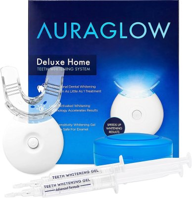 AuraGlow Teeth Whitening Kit LED Light