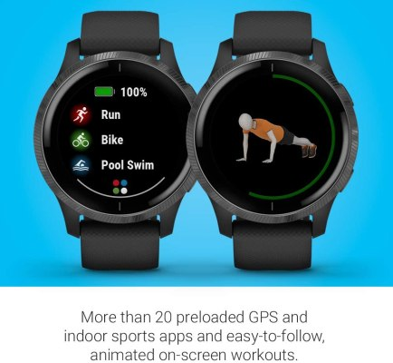 garmin venu gps smartwatch with bright touchscreen display