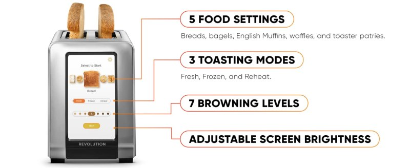 Revolution Cooking High Speed 2 Slice Stainless Steel Smart Toaster 1