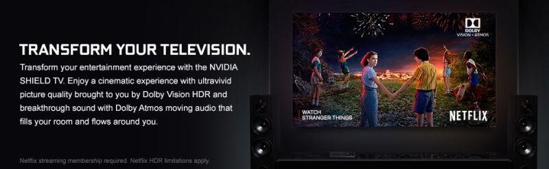 NVIDIA SHIELD Android TV 4K HDR Streaming Media Player