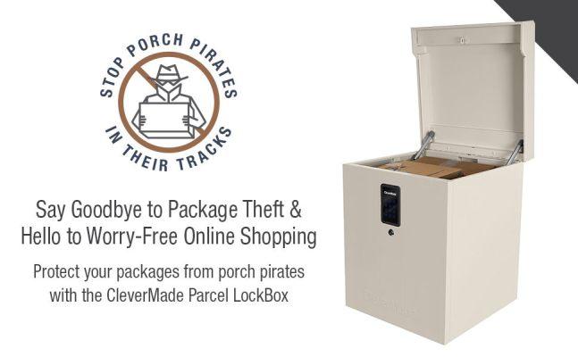 CleverMade Parcel LockBox S100 Series Best Digital Locker Secure Package Delivery Box