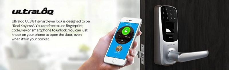 Ultraloq UL3 BT Bluetooth Enabled Fingerprint and Touchscreen Smart Best Digital Locker