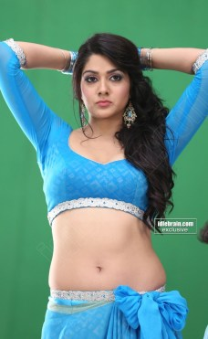 actress-sakshi-chaudhary-hot-navel-and-thigh-show-in-blue-saree-3