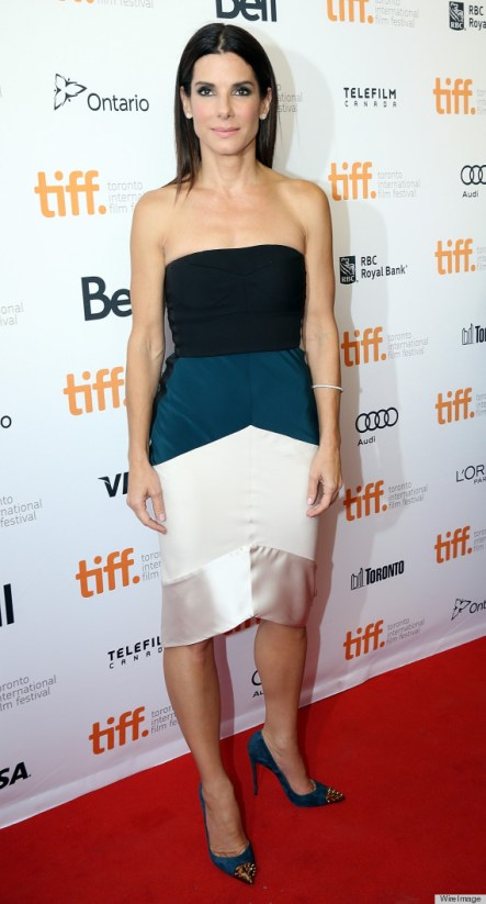 TORONTO, ON - SEPTEMBER 08: Actress Sandra Bullock attends the 'Gravity' premiere during the 2013 Toronto International Film Festival at Princess of Wales Theatre on September 8, 2013 in Toronto, Canada. (Photo by Ian Blakeman/WireImage)