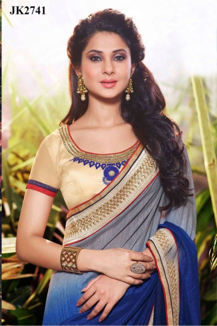 Jennifer-Winget-Blue-Grey-And-Cream-Color-Georgette-Based-Net-Art-Silk-Saree-By-Vipul-JK2741CLOSEUP-875x1314