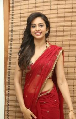 Rakul-Preet-Singh-Latest-Cute-Hot-Transparent-Saree-Navel-Show-Spicy-Photos-Gallery-2