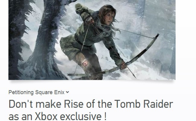 New Tomb Raider Must Come To Pc Ps4