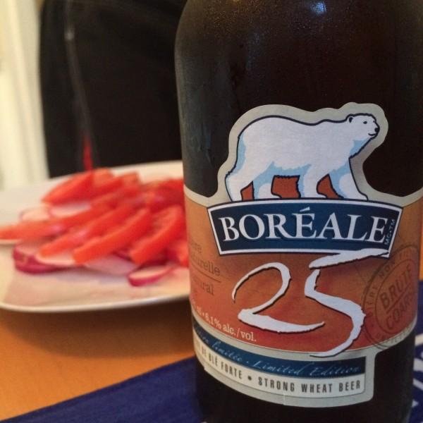 モントリオール地ビールBOREALEのビン