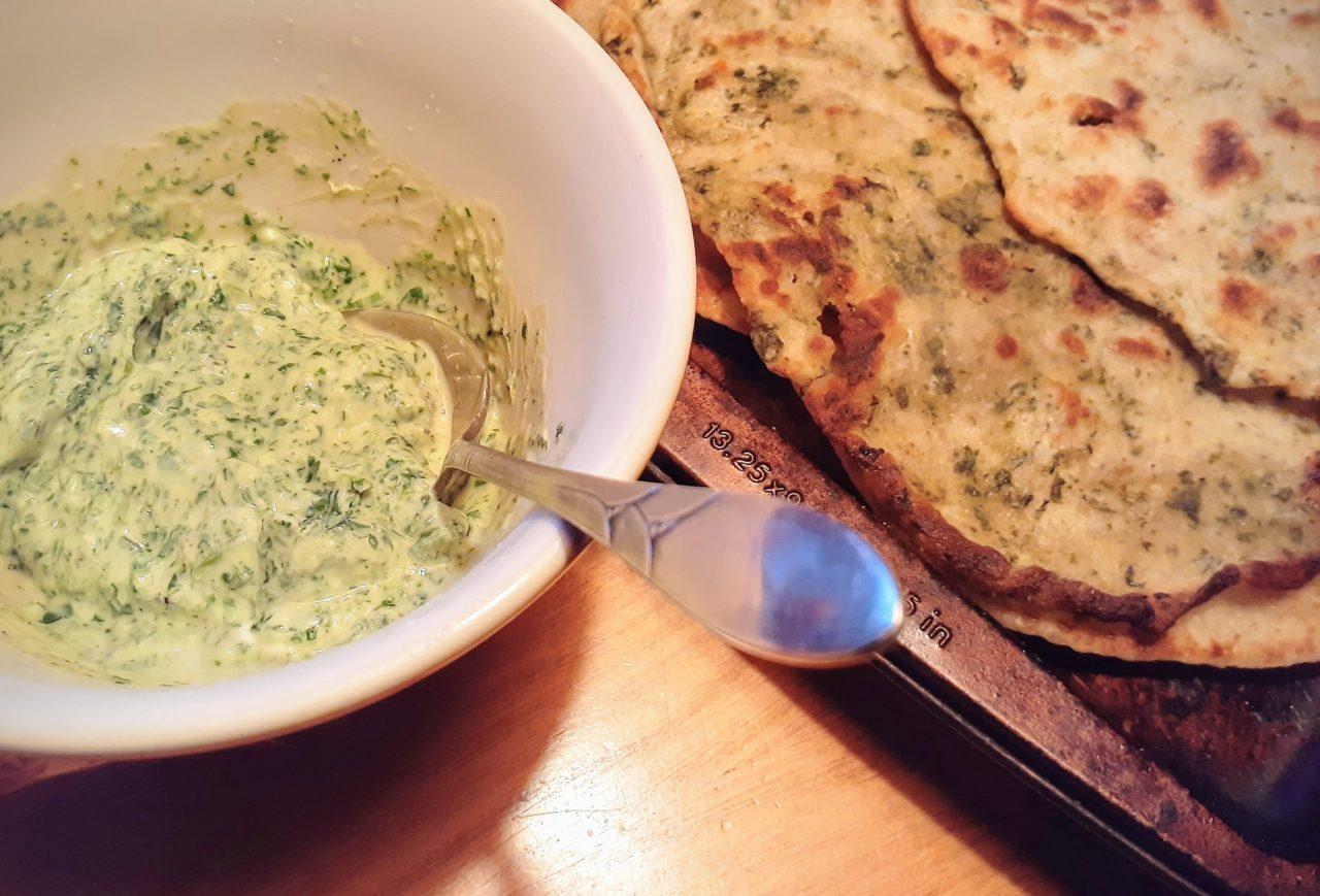 コリアンダー(パクチー)のヨーグルトソースのレシピ