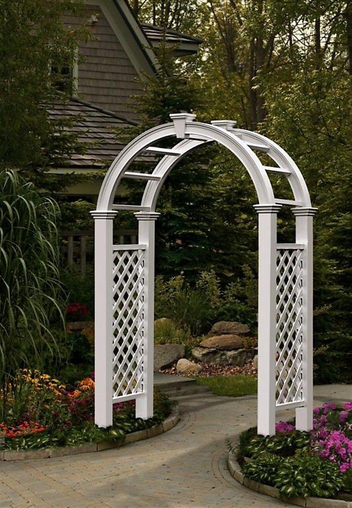 Beautify Your Backyard With A Garden Arch Trellis My