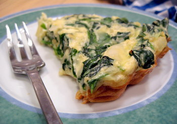 Crustless Spinach, Feta and Onion Quiche Recipe