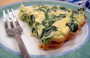 Crustless Spinach, Feta and Onion