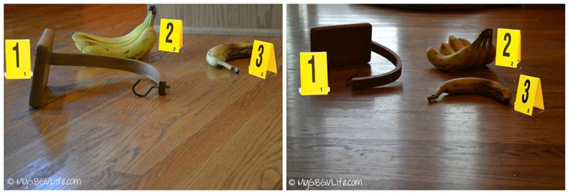 My GBGV Life crime scene at the Banana Caper
