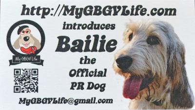 My GBGV Life Bailie's business card
