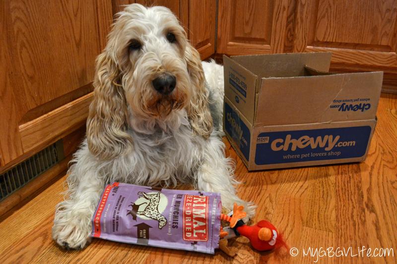 My GBGV Life Primal freeze dried turkey treats from chewy.com