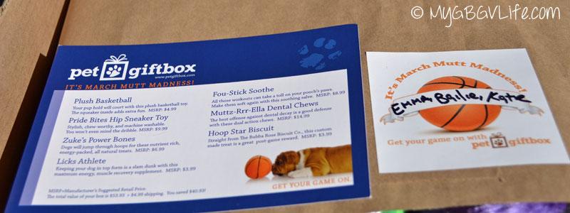 My GBGV LIfe basketball box tags