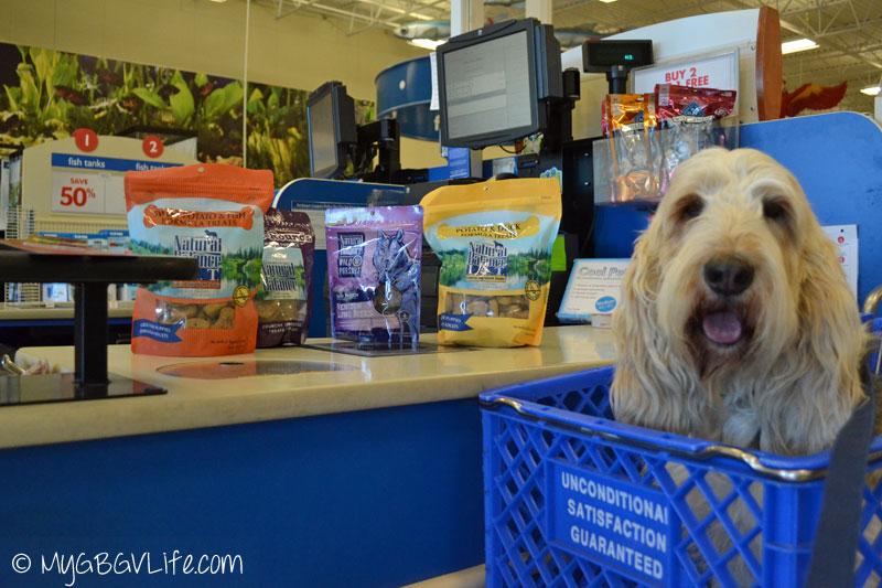 My GBGV Life purchasing Natural Balance treats at PetSmart