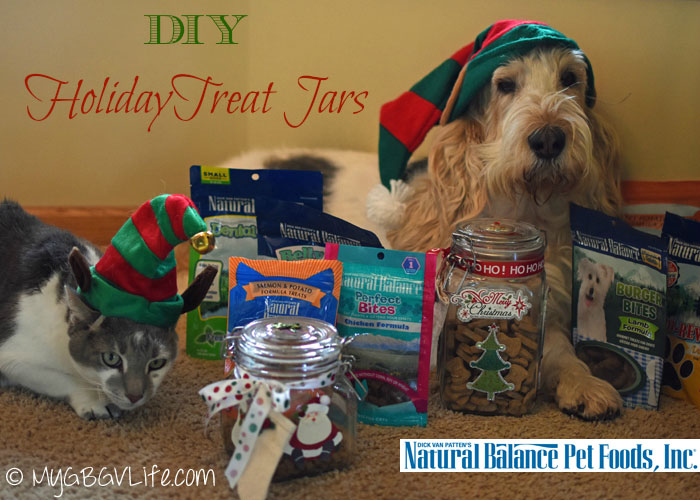 My GBGV Life Easy #DIY Holiday Treat Jars #NaturalBalance #sponsored