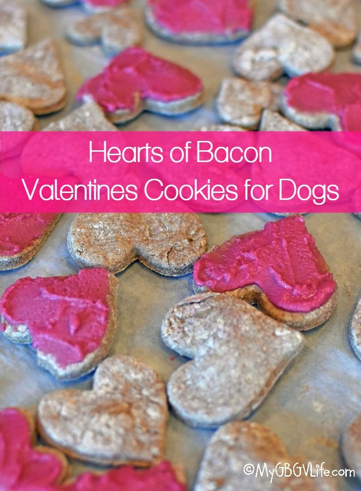 My GBGV Life Heart Of Bacon Valentines Cookies For Dogs