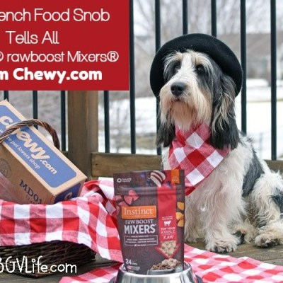 Our French Food Snob Tells All! Instinct rawBOOST Mixers #Chewy Influencer