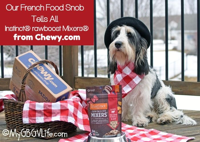 My GBGV Life Our French Food Snob Tells All! Instinct rawboost Mixers #Chewy Influencer