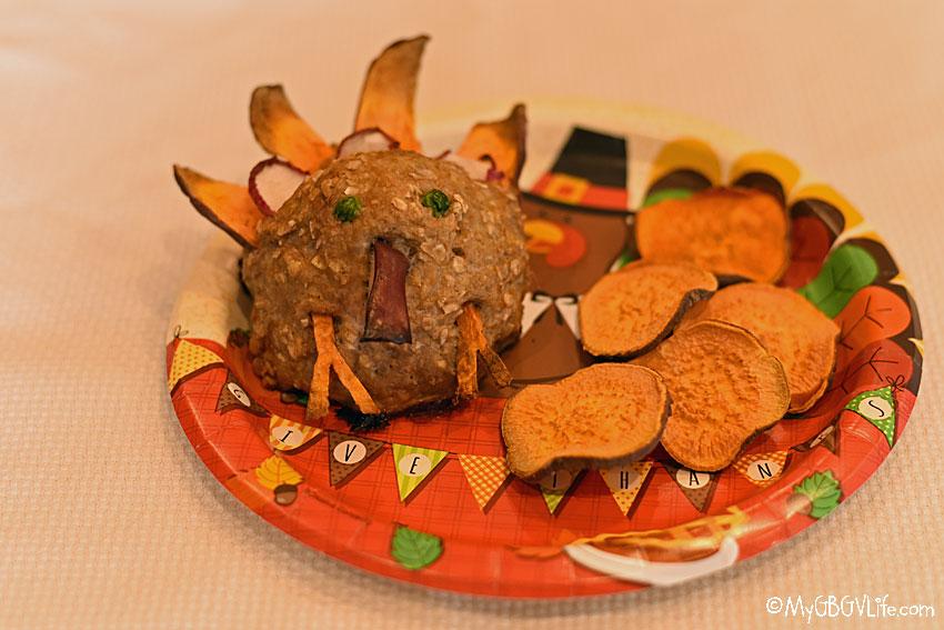 My GBGV Life turkey dinner on a plate