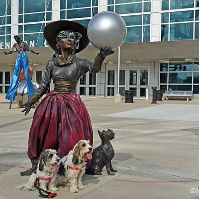 My GBGV Life Bronze Woman At The Omaha Convention Center