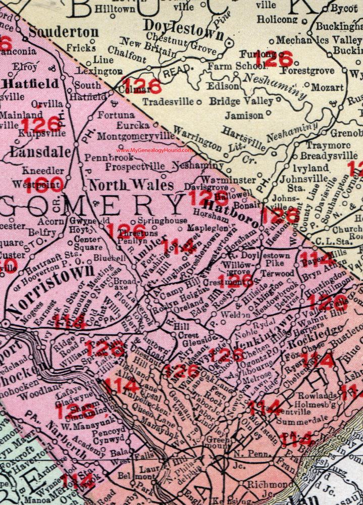 Montgomery County Pa Zip Code Map : montgomery, county, Montgomery, County, World, Atlas