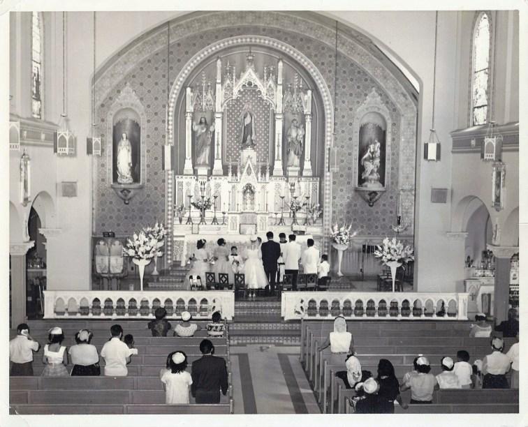 Catholic Church ceremony in East Los Angeles, Ca.