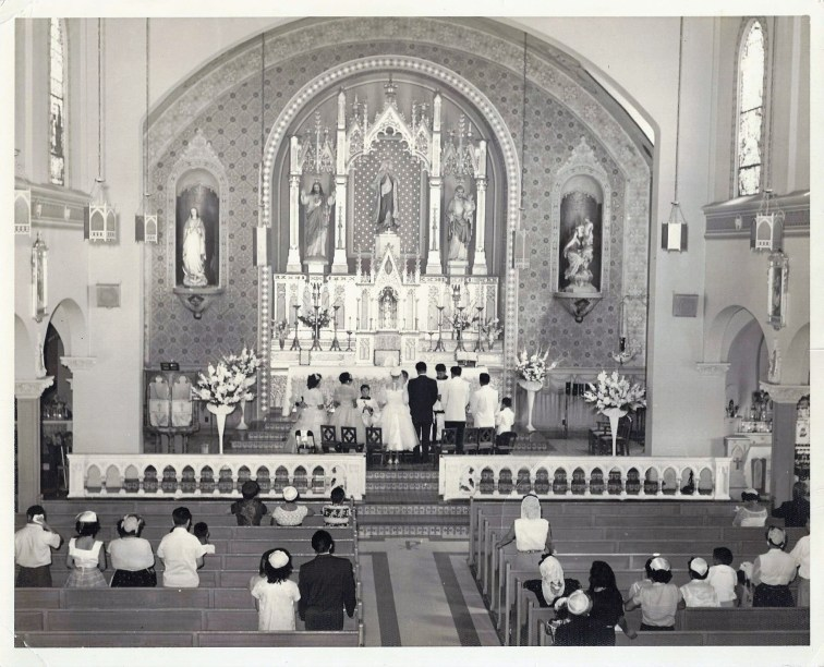 Catholic Church ceremony in East Los Angeles, Ca.