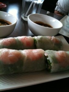 Fresh spring rolls at Pho Point Loma