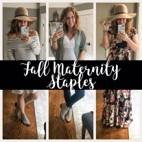 Fall Maternity Staples