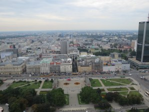 An aerial view of part of Warsaw