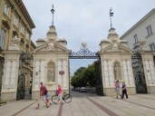 The gate to Warsaw University