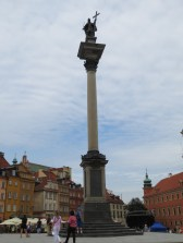 The King Zygmunt III column, in the center of the Warsaw town square