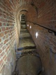 The 'historical tunnel' beneath the Royal Castle (actually, the castle's old sewer pipe)
