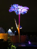 A sculpture made from recycled metal at the Tollwood Christmas market