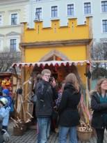 Medieval Christmas market at Odeonsplatz