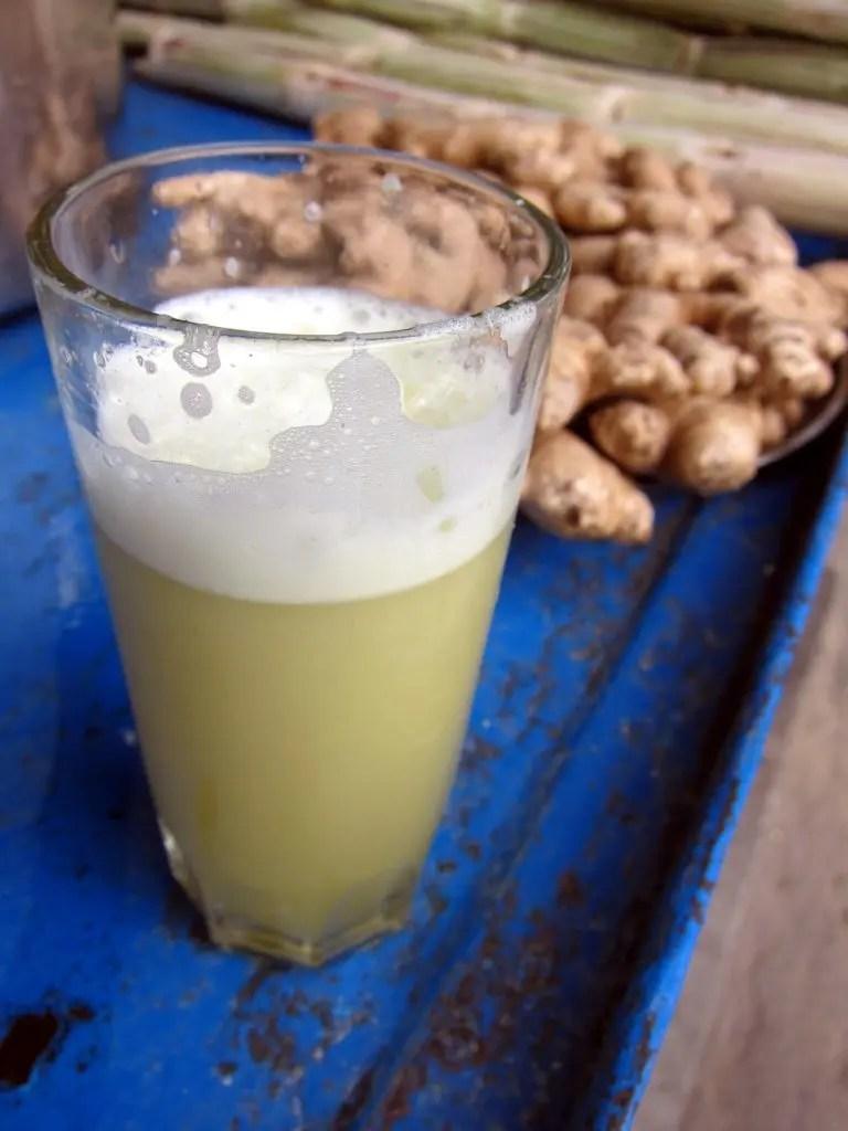 Raw sugar cane juice