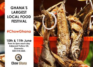 Chow Ghana Festival comes off June 10th - 11th