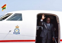 Nana Addo jets off to UK for one-week vacation
